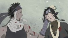 Haku and Zabuza die side by side