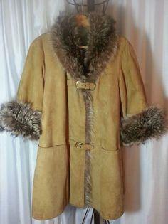 BONNIE CASHIN SILLS DESIGNER RACCOON FUR & TAN SUEDE COAT L-XL AMAZING! in Clothing, Shoes & Accessories, Vintage, Women's Vintage Clothing | eBay