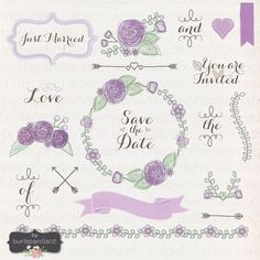 Check out Watercolor wedding clipart by burlapandlace on Creative Market