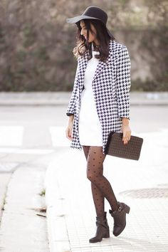 10 Amazing Street Style Outfits With Houndstooth Print