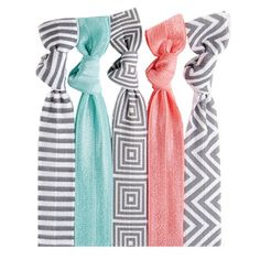 Our Vesta™ Hair Tie Set is perfect blend of creamy colors and cool patterns. It goes great with any hair style! They also make great arm candy. #twistband #hair #ties