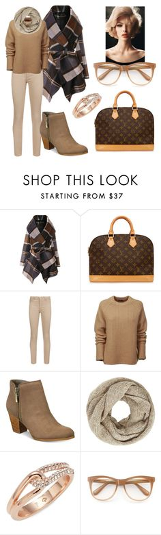 """""""Sem título #1256"""" by fervi ❤ liked on Polyvore featuring Chicwish, Louis Vuitton, 7 For All Mankind, Joseph, Style & Co., John Lewis, Kate Spade and Wildfox"""