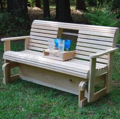 Instructions of how to build wooden porch glider-I hope my handy hubby will make this for me/us. :)