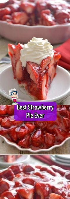 PLEASE SHARE THIS WITH YOUR FRIENDS AND FAMILY A strawberry filling is an ultimate ingredient that works excellent in endless dessert recipes. Including cake fillings, tart fillings, and fruit tarts. Fresh Strawberry Pie, Strawberry Filling, Strawberry Desserts, Köstliche Desserts, Summer Desserts, Delicious Desserts, Dessert Recipes, Strawberry Pie Fillings, Healthy Desserts