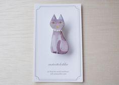 物静かなネコ/Brooch
