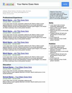 """nice """"Search Engine"""" Template Resume"""