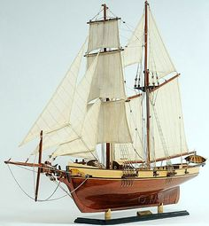 Wooden Model Ship of the Clipper Baltimore.