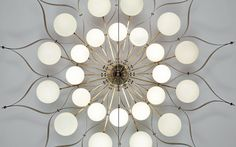 Gio Ponti, Monumental chandelier, for the Hotel Parco dei Principi, Rome, 1964. Diameter 81 7/8 inch or 208 cm.