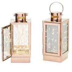 Rose Gold Lantern, Gold Lanterns, Lanterns Decor, Candle Lanterns, Flameless Candles, Decorative Lanterns, Bedroom Lanterns, Copper Lantern, Decorative Metal
