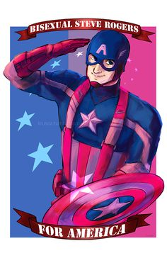 artingkrusca:  BISEXUAL CAP FOR AMERICA   ( theappleppielifestyle convinced me to do this)