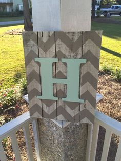 This one of a kind Initial Chevron Pallet sign measures roughly 12 wide by 18 tall (may be slightly larger due to width of pallet pieces). The wooden pallets have been whitewashed to give that shabby chic look and also allow for the chevron and initial to really POP. Metal hangers have already been mounted on the backside to make it easy to be hung anywhere. When Ordering Please Indicate: Letter for Initial  Color for Initial  Color for Chevron Print *This listing is for any Initial.