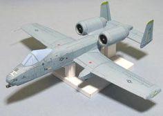 Fairchild Republic A-10 Thunderbolt II Ver.3 Free Aircraft Paper Model Download