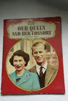 Vintage Queen Elizabeth II book, Our Queen and Her Consort magazine, Volume Royalty collectable. Royal Queen, Queen Elizabeth Ii, One Sided, Paperback Books, First Names, Royalty, Black And White, Etsy Store, Creepy