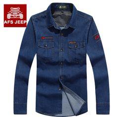 >> Click to Buy << 2016 Spring Autumn models big yards jeans male long-sleeved denim shirt Jeep genuine men coat tide #Affiliate