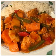 Caribbean Pepperpot Stew, syn free. Used chicken instead of beef though, tasty but there's more taste when using beef