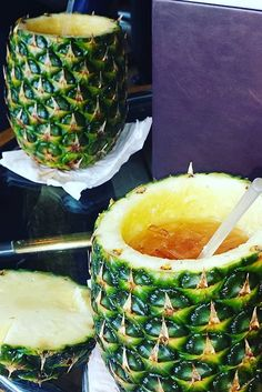 Bahama Mama. Coconut flavored rum, grenadine, orange juice and pineapple juice. Tastes best in a pineapple.