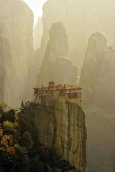 Meteora, Greece  Meteora Monastery by KirlianCamera
