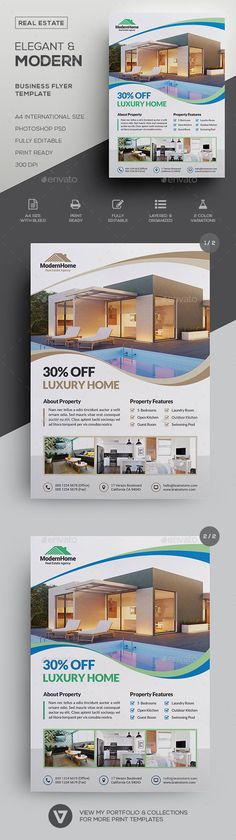 Real Estate Flyer Classy, Elegant & Modern Real Estate & Property Flyer Template An elegant and high. Best Mortgage Lenders, Refinance Mortgage, Mortgage Tips, Mortgage Quotes, Mortgage Calculator, Mortgage Payment, Real Estate Flyer Template, Business Flyer Templates, Real Estate Flyers