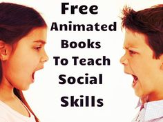 Free animated books to teach social skills to young children. Social Skills Autism, Social Skills Lessons, Social Skills Activities, Teaching Social Skills, Social Emotional Learning, Life Skills, Classroom Behavior, Classroom Management, Behavior Management