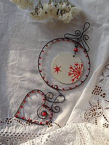Christmas Home, Christmas Gifts, Lucky Charm, Wire Work, Decorative Plates, Ornaments, Wire, Decorating, Xmas Gifts