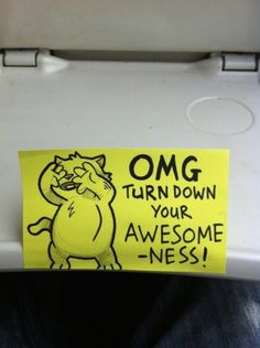 Hilarious Motivational Cat Post It Notes Found on a Train
