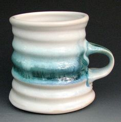 White and BlueGreen Mug