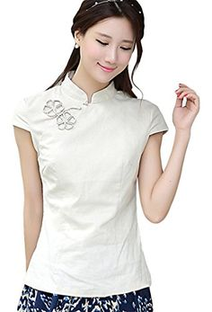 AvaCostume Chinese Oriental Cap Sleeve Tang Qipao Top Blouse, 4P, Beige AvaCostume http://www.amazon.com/dp/B00R7EVNWG/ref=cm_sw_r_pi_dp_EE0Vub12VQV72