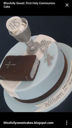 Holy communion cake boy