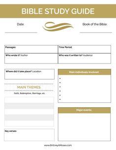 Printable Bible Study Guide pg 1