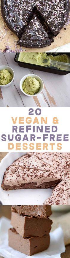 20 Vegan and Refined Sugar-Free Desserts   Ditch the white sugar!   ElephantasticVegan.com