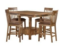 Sedona Collection - Rustic Oak Counter Dining Set