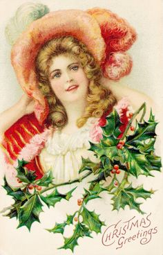 Collage Candy: Vintage postcards: more lovely ladies