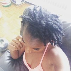 Just a little obsessed with my locs #thicklocs #embraceyourjourney #womenwithlocs #loclivin #locs #NuGrowthChallenge #semifreeform