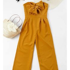 Spring and Summer No Solid Sleeveless Strapless Normal Regular Fashion Going Bowknot Tube High Waisted Jumpsuit Look Fashion, Fashion Outfits, Fashion Trends, Ladies Fashion, Modest Fashion, Trendy Fashion, Fashion Ideas, Fashion Tips, Spring Summer Fashion
