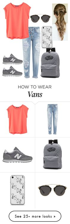 """""""Me."""" by smilend on Polyvore featuring Dsquared2, MANGO, New Balance, Vans and Christian Dior"""