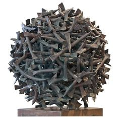 Claire Falkenstein Monumental Copper Sculpture | From a unique collection of antique and modern sculptures at https://www.1stdibs.com/furniture/decorative-objects/sculptures/