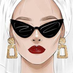 Arte Fashion, Girl Fashion, Girly Drawings, Fashion Design Sketches, Cartoon Art, Art Sketches, Fashion Illustrations, Fashion Illustration Chanel, Fashion Illustration Tutorial