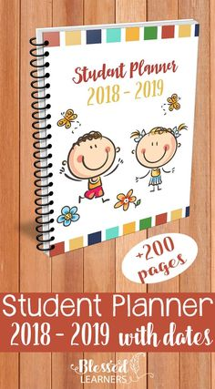 Parents can help them writing their planner until they are ready to be independent. This Student Planner 2018 - 2019 with dates will help both parents and students to practice the time management skills. #StudentPlanner #Homeschool #TimeManagement