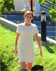Emma Watson gets into character on the set of her upcoming film Colonia Dignidad in Buenos Aires, Argentina.