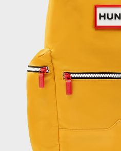 A practical, weatherproof backpack with a leather trim.