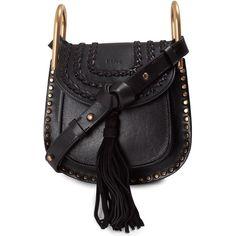 Chloe' Hudson Mini Studded Leather Crossbody Bag ($1,600) ❤ liked on Polyvore featuring bags, handbags, shoulder bags, nero, crossbody purse, studded crossbody, mini shoulder bag, crossbody handbag and chloe handbags