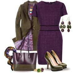 Purple & Olive Green - Polyvore