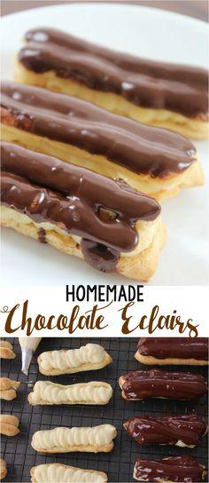 Homemade Chocolate Eclairs