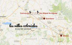 carte guanajuato et san miguel de allende Mexique