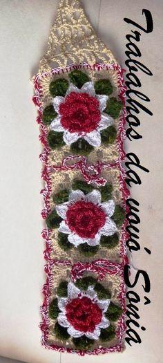 Work of Sonia Grandma: toilet paper holder flowers Soraia - crochet Toliet Paper Holder, Toilet Paper, Crotchet Patterns, Roll Holder, Learn To Crochet, Pattern Paper, Doilies, Crochet Projects, Bohemian Rug