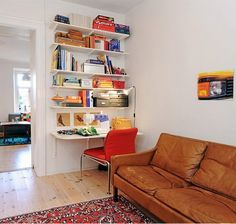 Trendy Home Office Ideas Scandinavian Inspiration Ideas Simple Living Room, Small Living Rooms, Home And Living, Living Room Designs, Living Spaces, Modern Living, Modern Small Apartment Design, Small Apartments, Small Spaces