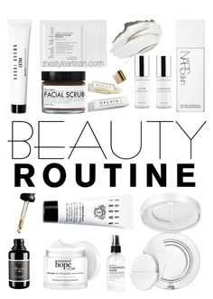 """beauty routine"" by thestyleartisan ❤ liked on Polyvore featuring beauty, Bobbi Brown Cosmetics, Fig+Yarrow, philosophy, Estée Lauder, Trish McEvoy, NARS Cosmetics and beautyroutine"