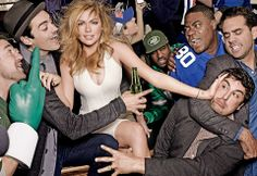 Kate Upton Celebrates the Super Bowl for American Vogue.
