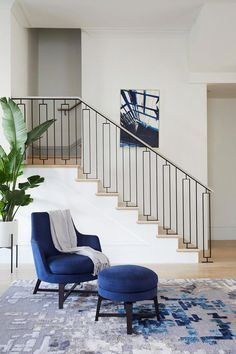The Mission - Transitional - Staircase - San Francisco - by NOA Design + Construction Interior Stairs, Staircase Decor, Stairs Design, Staircase Railings, Home Room Design, Stairs Design Modern, Wrought Iron Stairs, Stairway Design, Stair Railing Design