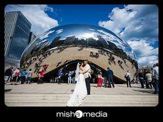 millenium park wedding photos